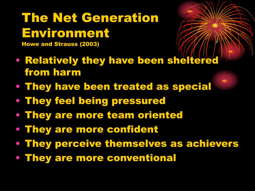 The Net Generation Environment