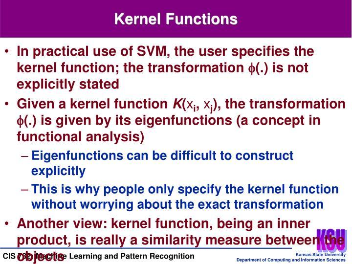 Kernel Functions