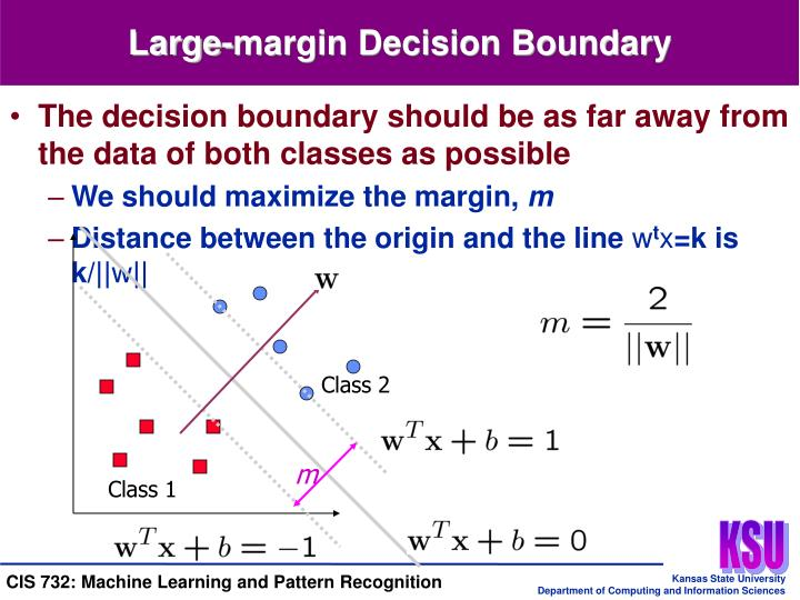 Large-margin Decision Boundary