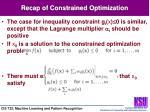 recap of constrained optimization1