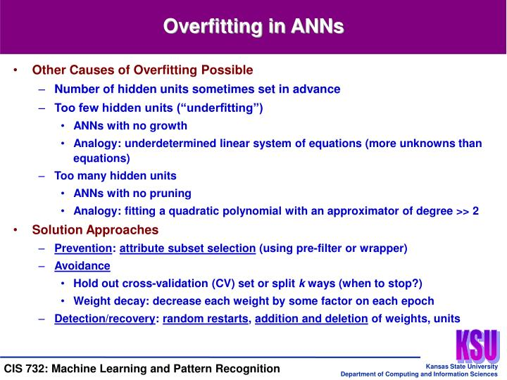 Overfitting in ANNs