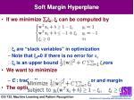 soft margin hyperplane