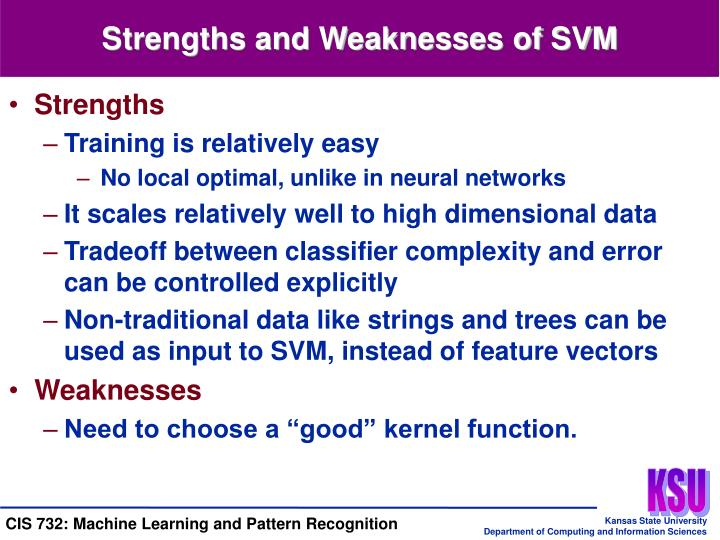 Strengths and Weaknesses of SVM