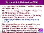 structural risk minimization srm2