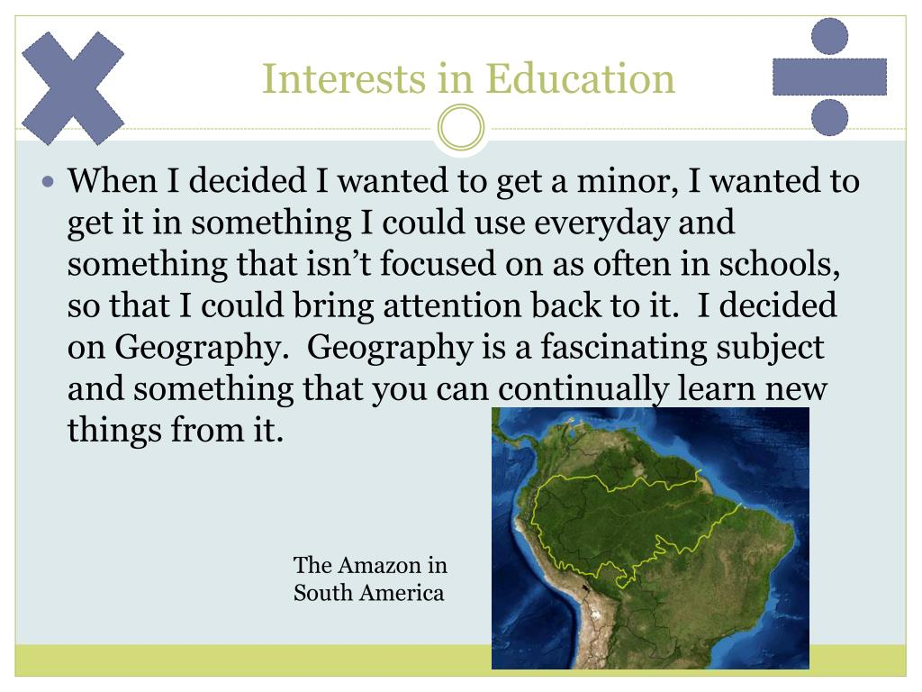 Interests in Education