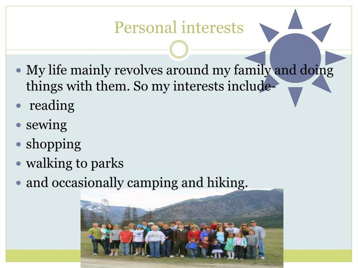 Personal interests