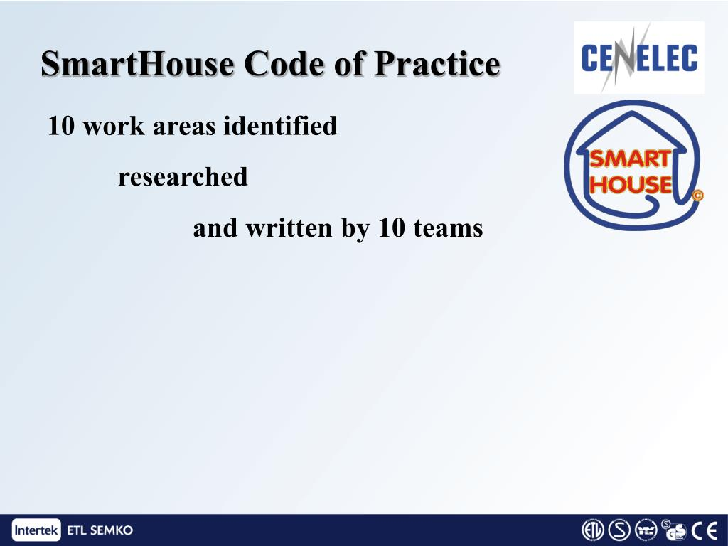 SmartHouse Code of Practice