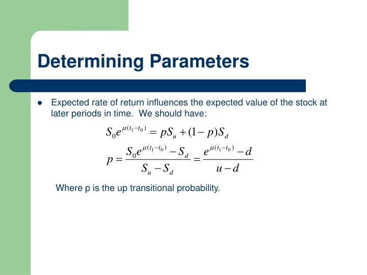 Determining Parameters