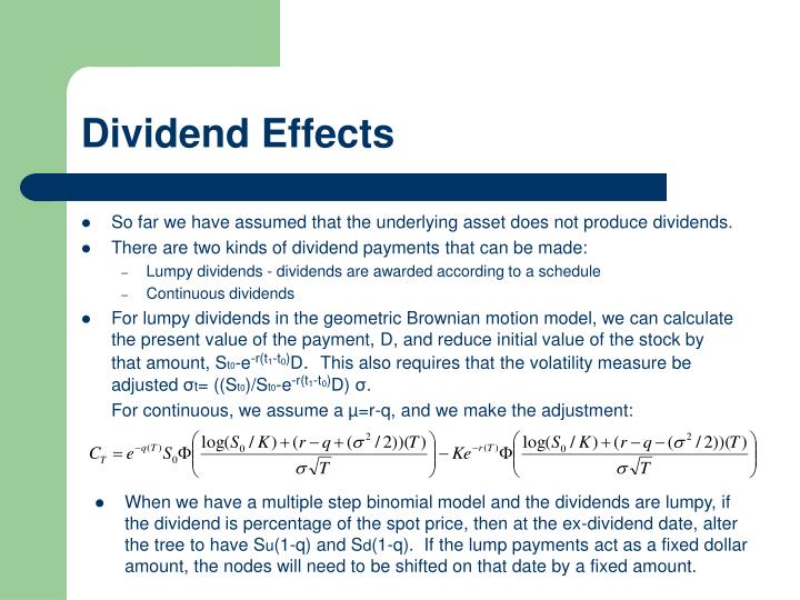 Dividend Effects