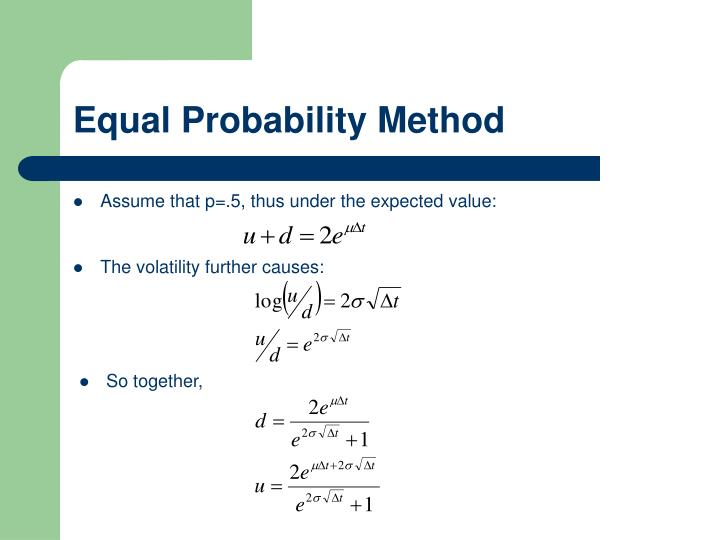 Equal Probability Method