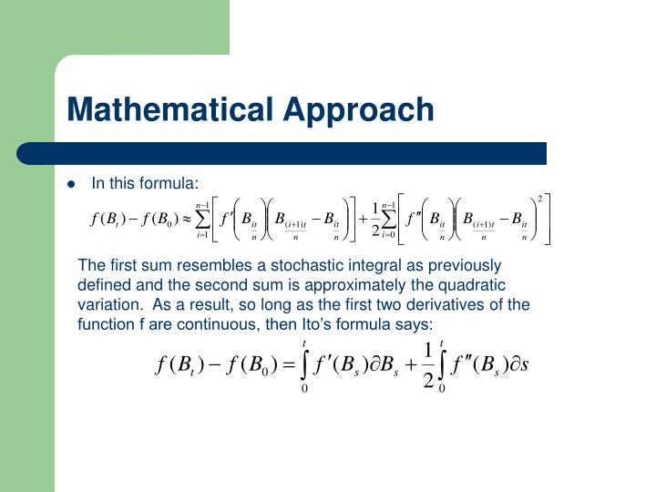 Mathematical Approach