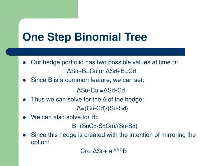 One Step Binomial Tree