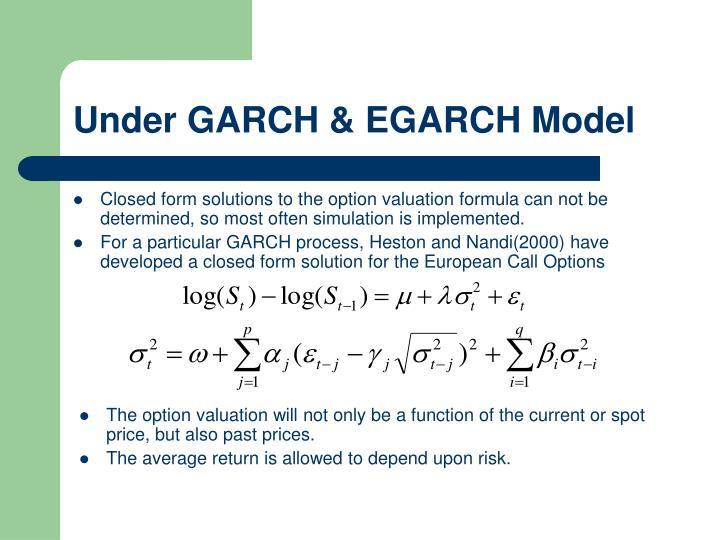 Under GARCH & EGARCH Model