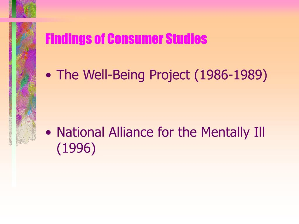 Findings of Consumer Studies