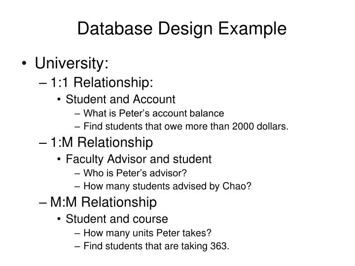 Database Design Exampl