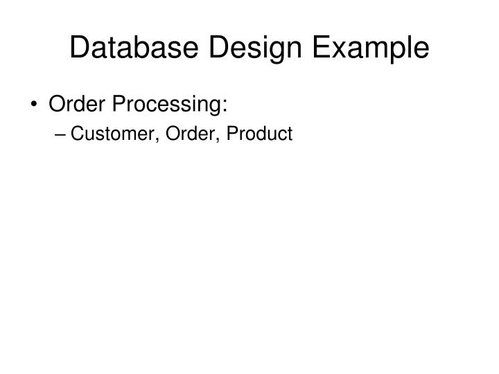 Database Design Example