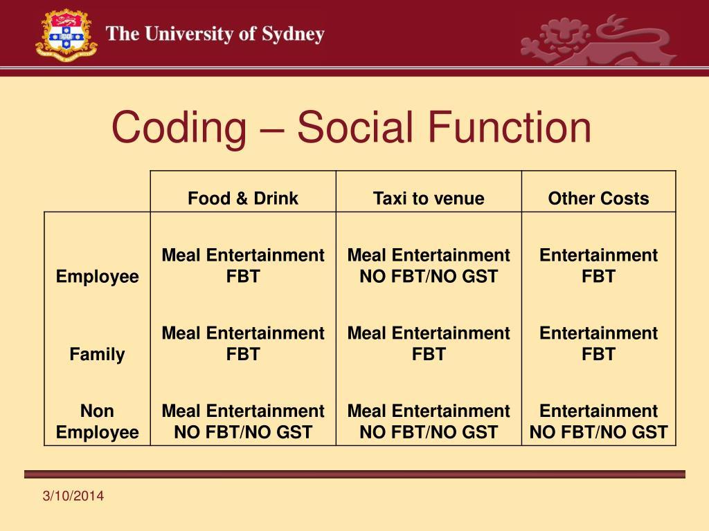 Coding – Social Function