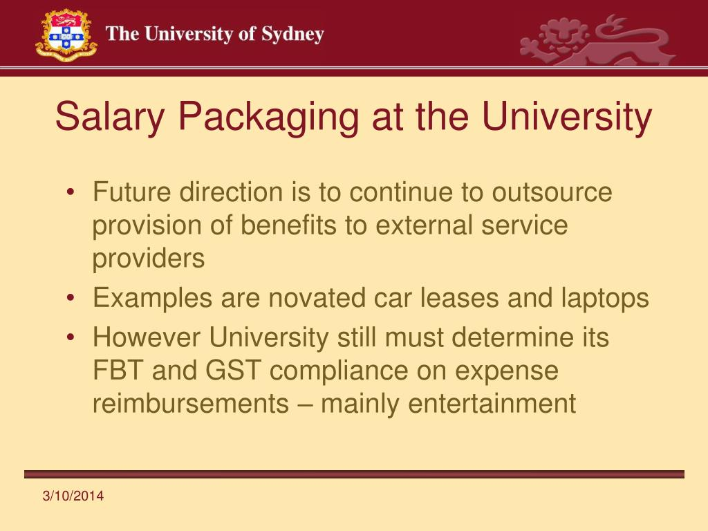 Salary Packaging at the University