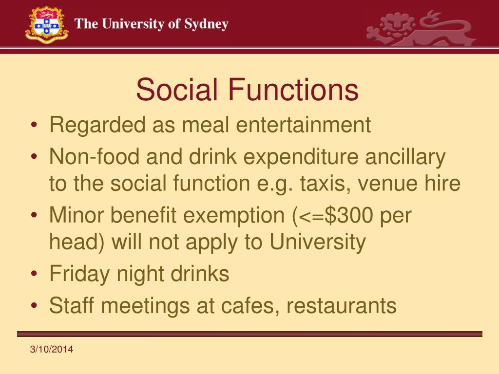 Social Functions