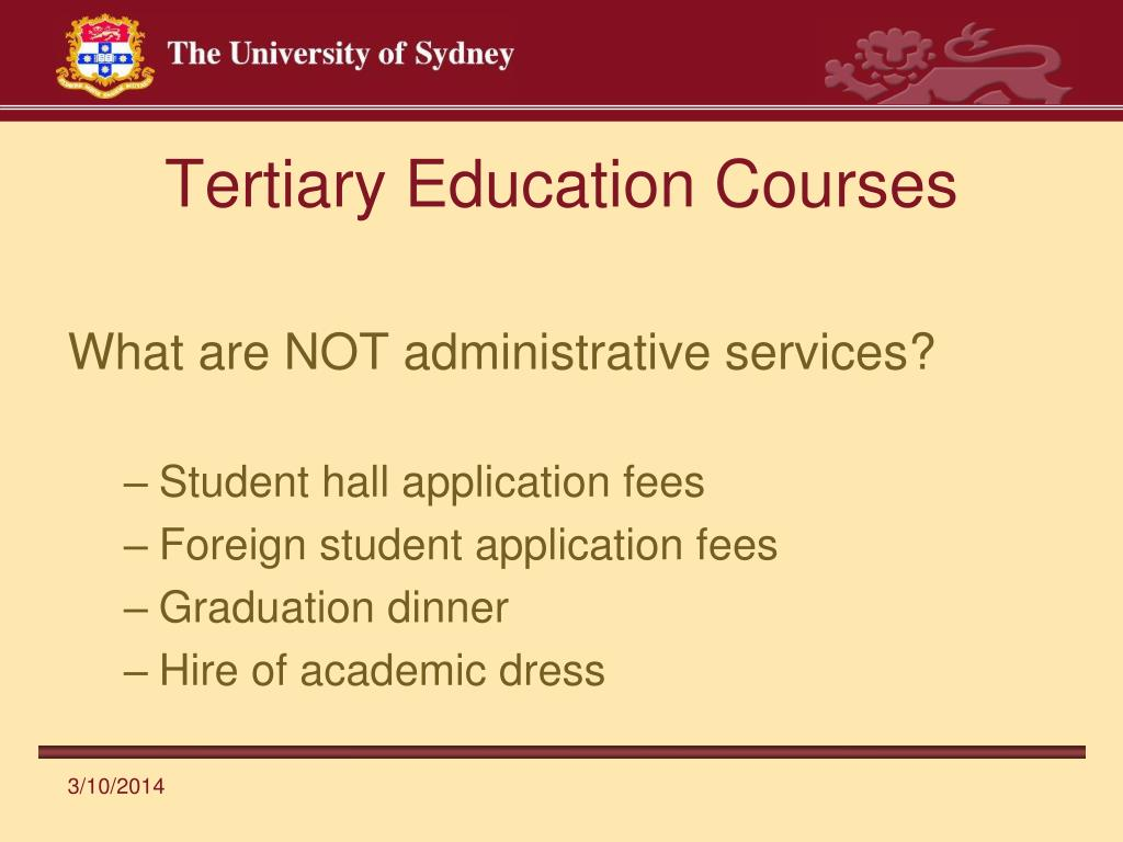 Tertiary Education Courses