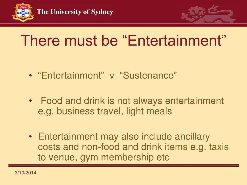 "There must be ""Entertainment"""