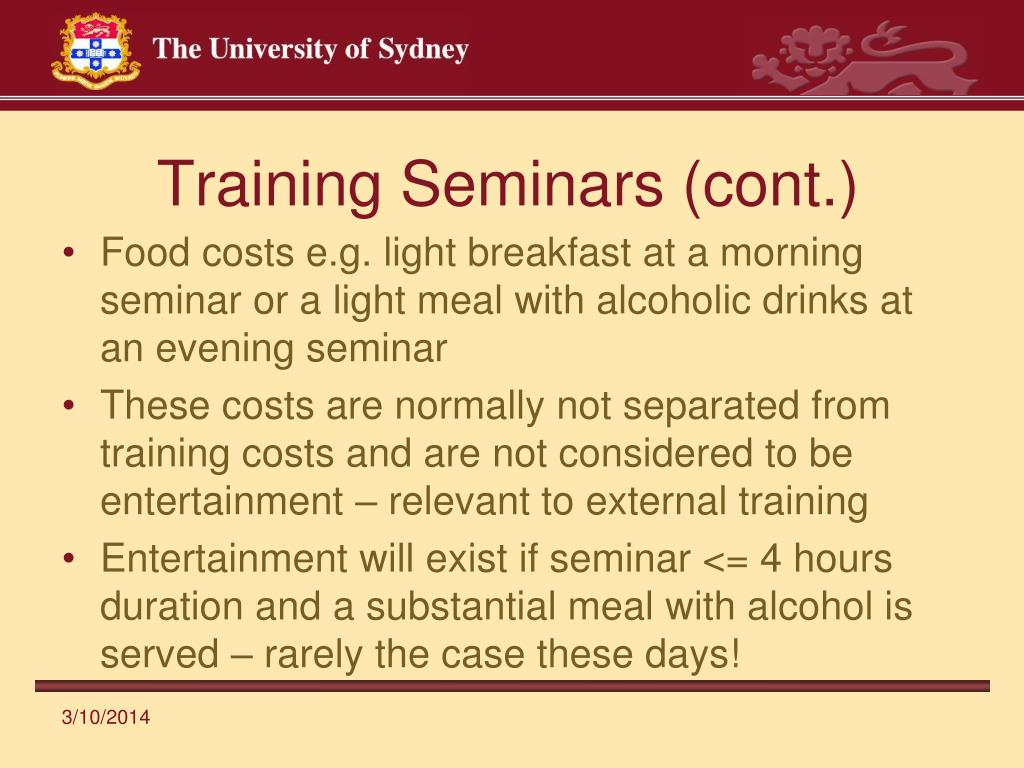 Training Seminars (cont.)