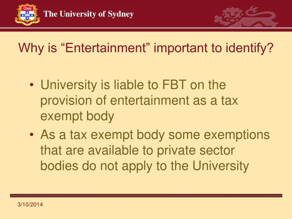 "Why is ""Entertainment"" important to identify?"