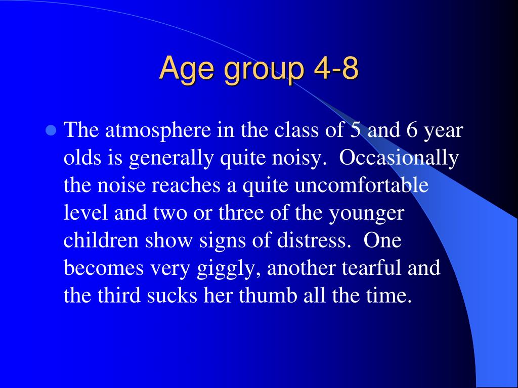Age group 4-8