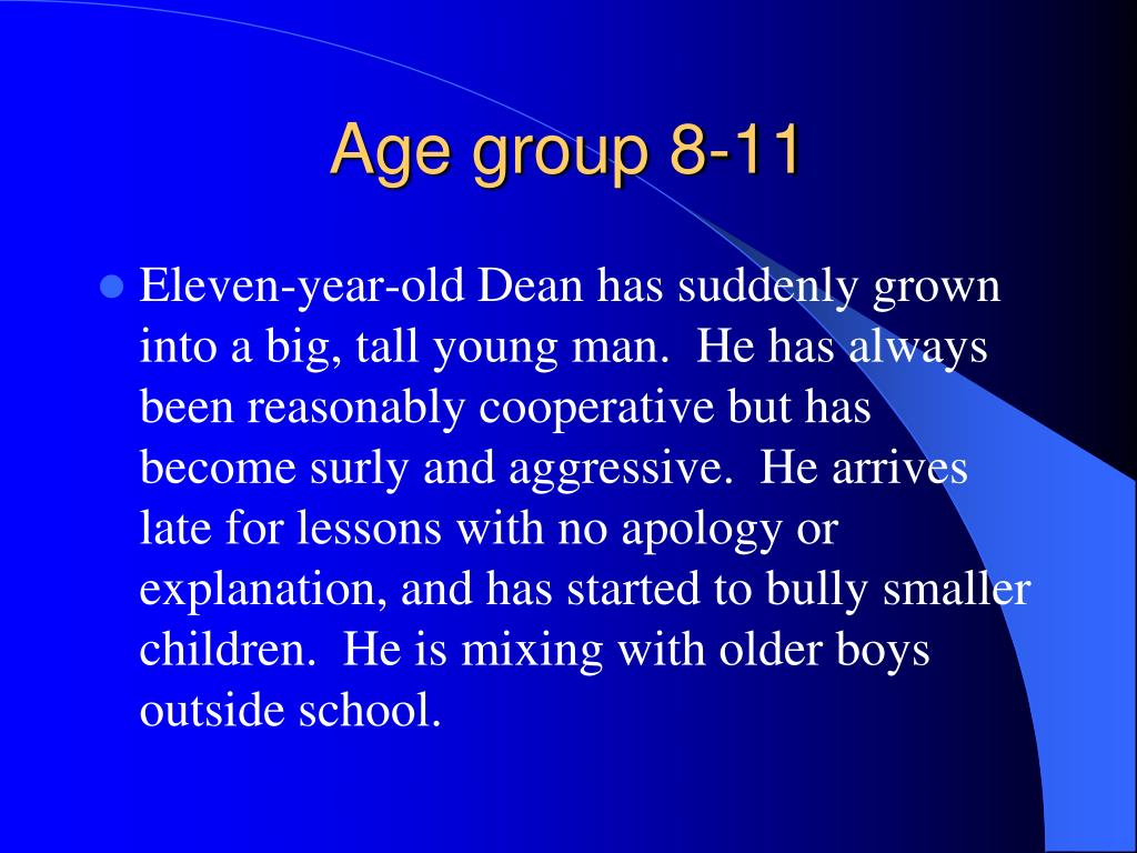 Age group 8-11