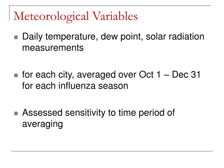 Meteorological Variables