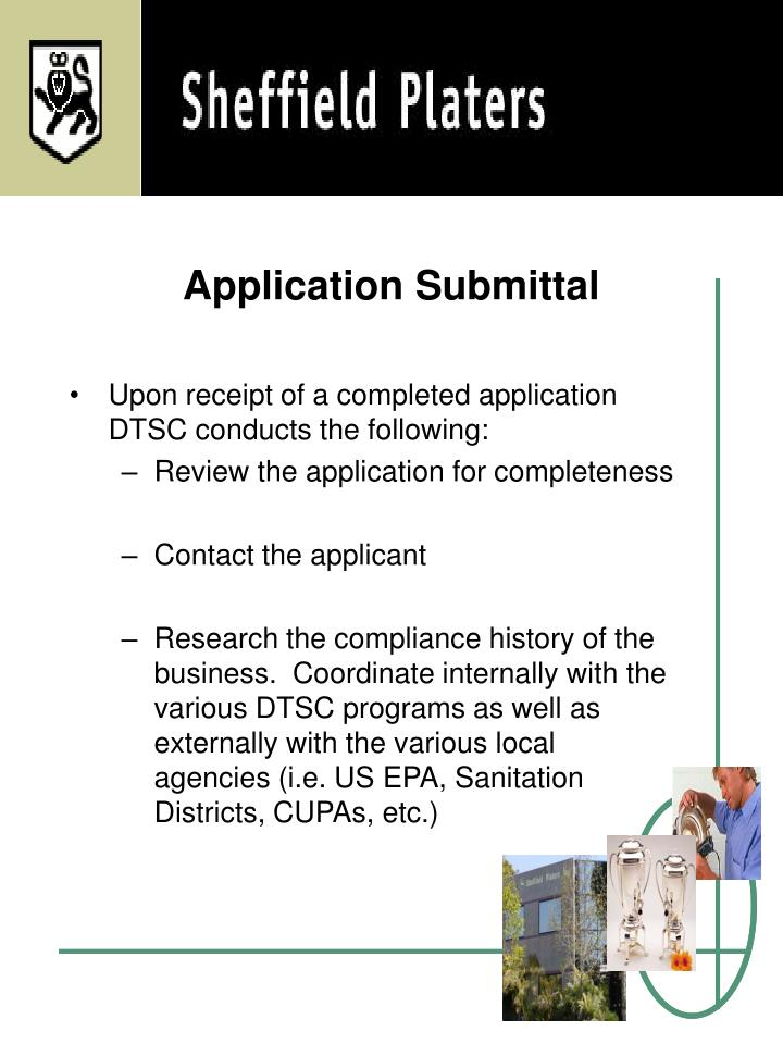 Application Submittal