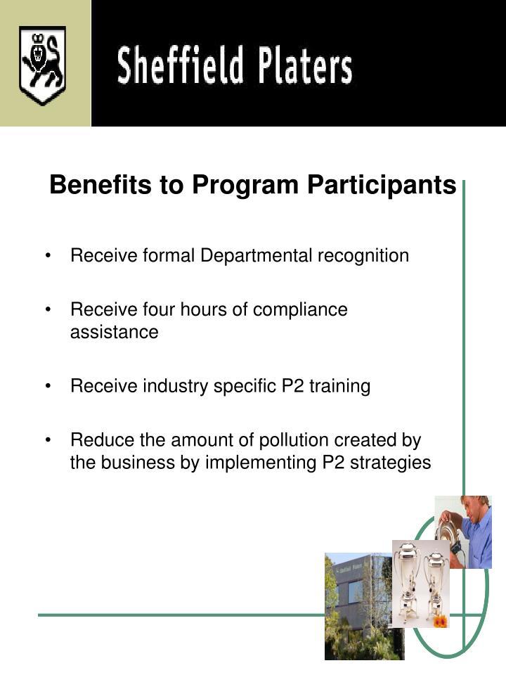 Benefits to Program Participants