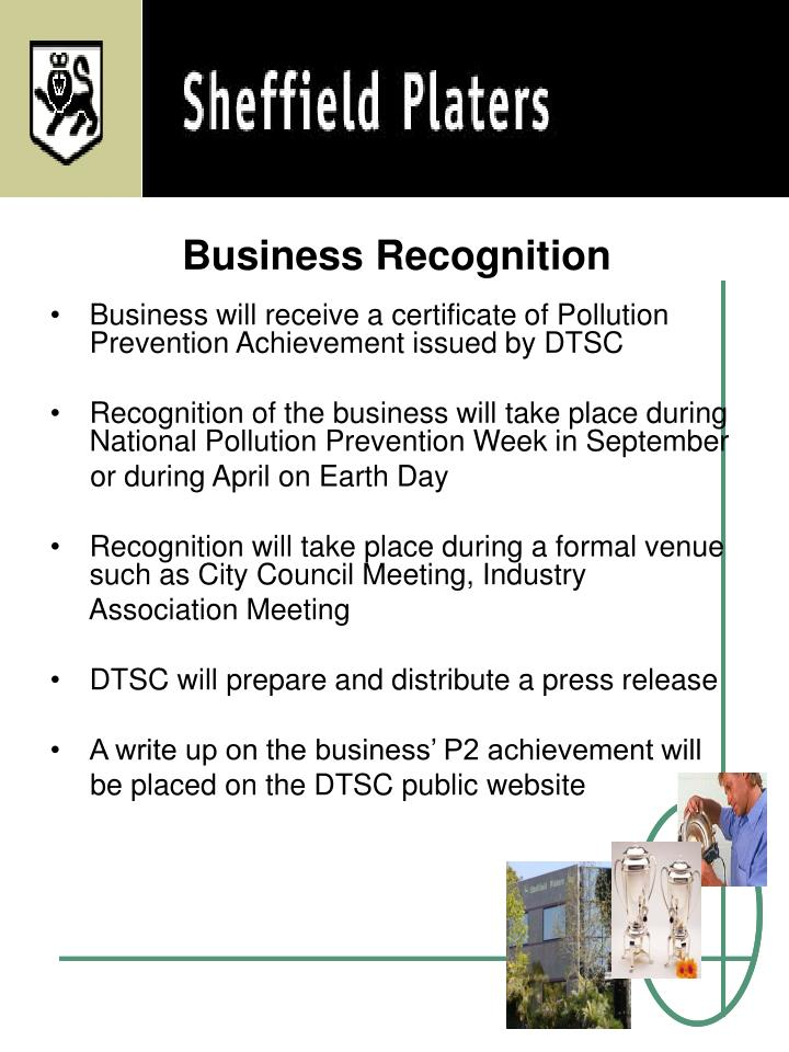Business Recognition