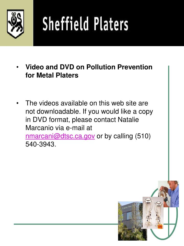 Video and DVD on Pollution Prevention for Metal Platers