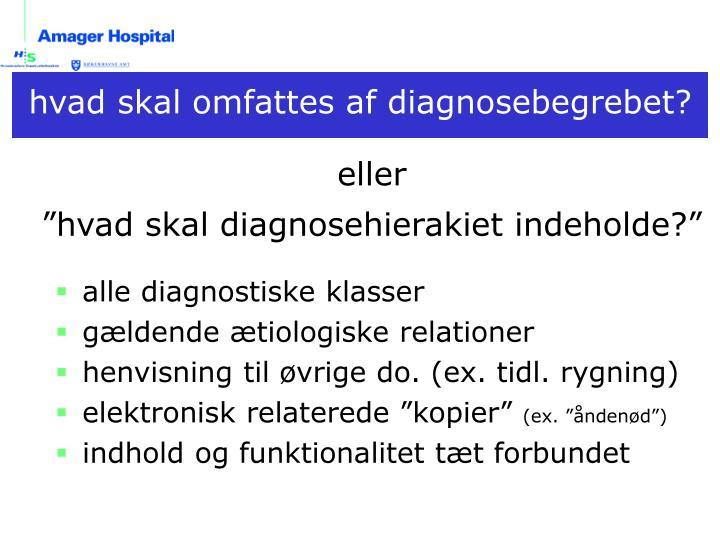 alle diagnostiske klasser