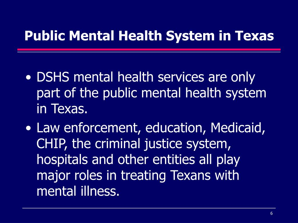 Public Mental Health System in Texas