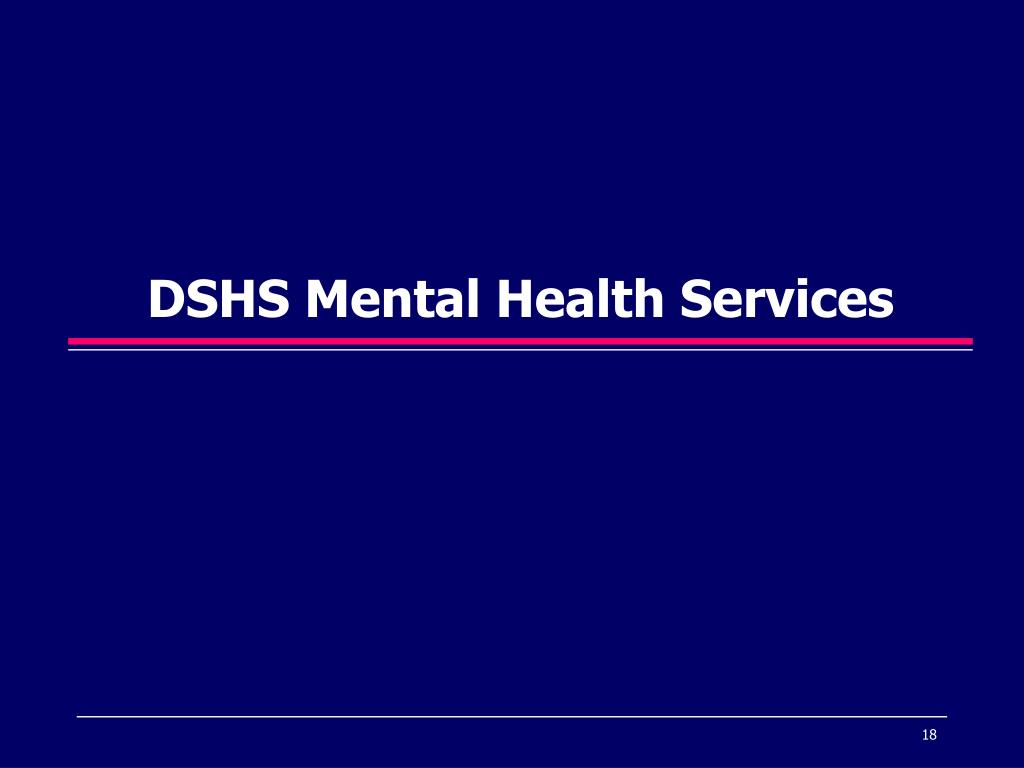 DSHS Mental Health Services