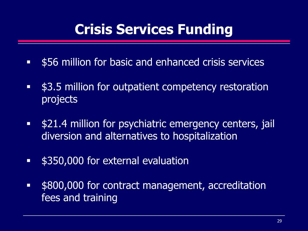 Crisis Services Funding