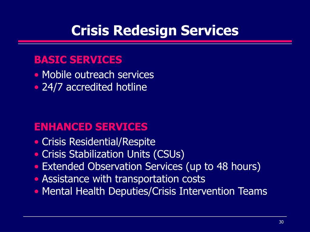 Crisis Redesign Services