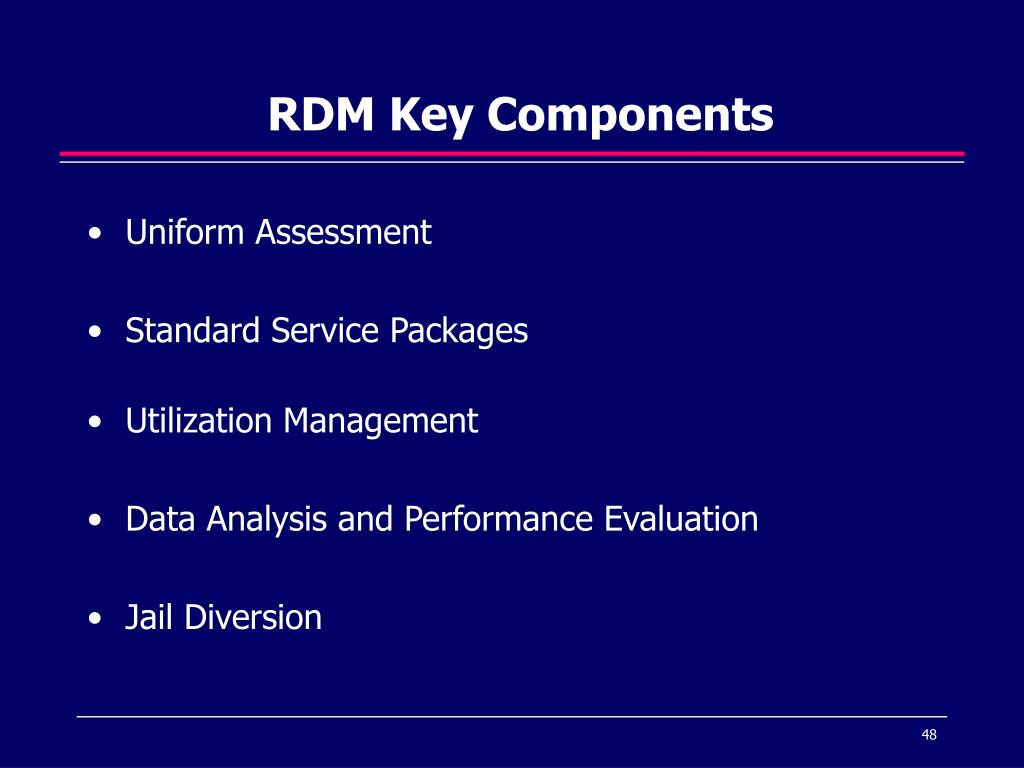 RDM Key Components
