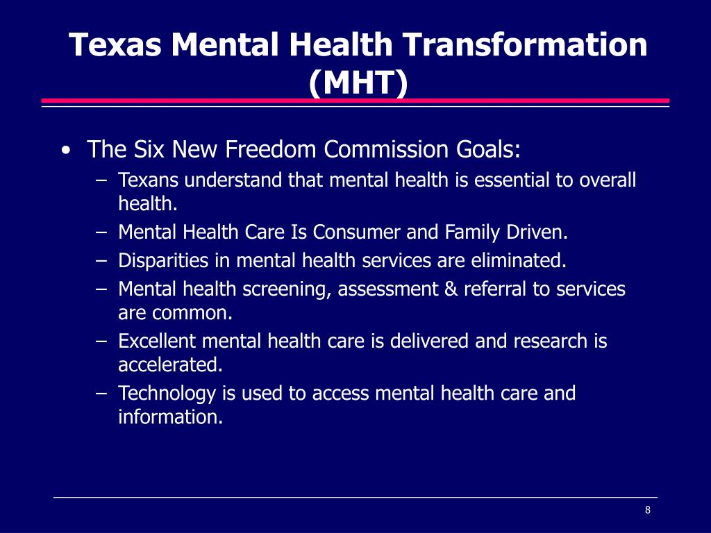Texas Mental Health Transformation (MHT)