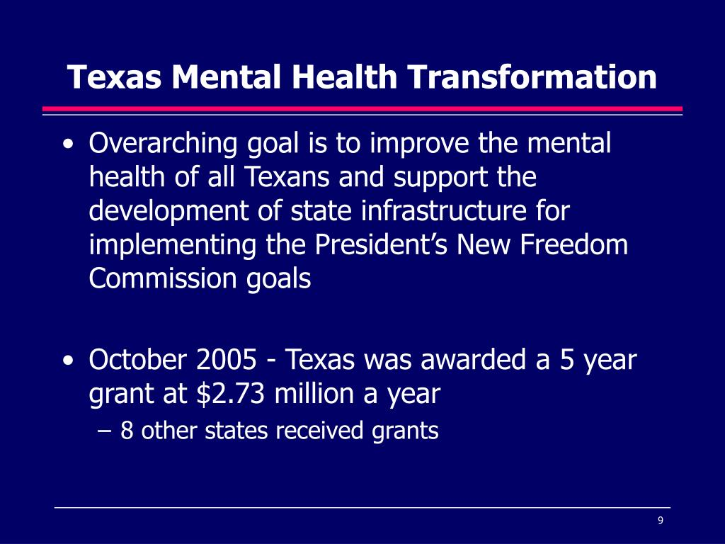 Texas Mental Health Transformation