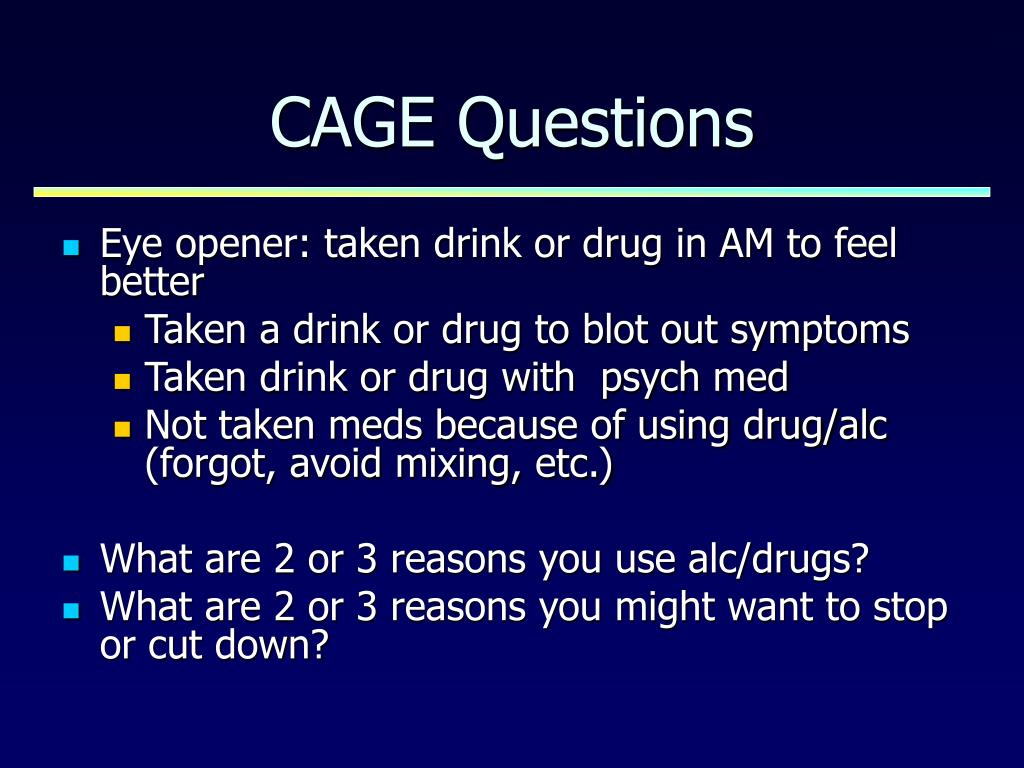CAGE Questions