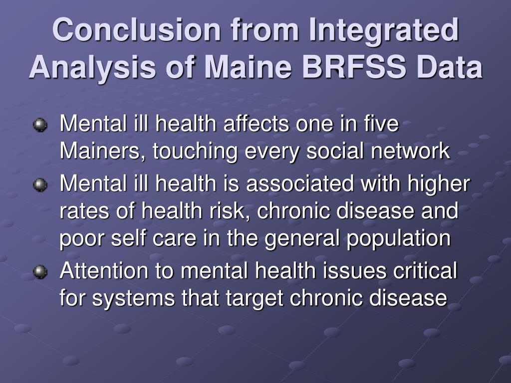 Conclusion from Integrated Analysis of Maine BRFSS Data