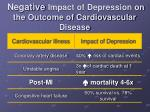 negative impact of depression on the outcome of cardiovascular disease