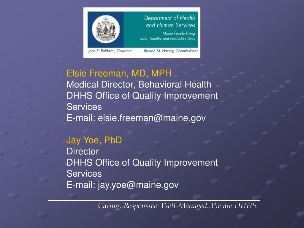 Elsie Freeman, MD, MPH