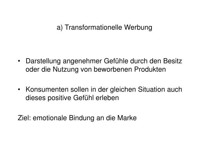 a) Transformationelle Werbung