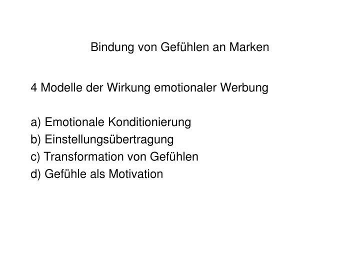 Bindung von Gefühlen an Marken