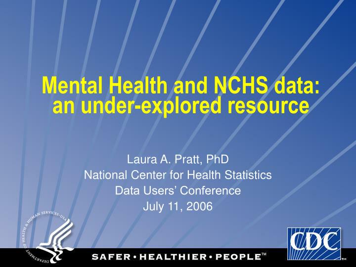Mental health and nchs data an under explored resource
