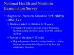 national health and nutrition examination survey7